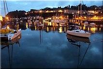SH5638 : Porthmadog Harbour at Dusk by Christine Matthews