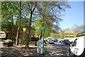 TQ3570 : Footpath signpost, Kingswood Rd, Penge by N Chadwick