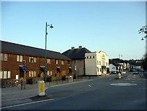 SH5638 : Houses and Cinema, Porthmadog, Gwynedd by Christine Matthews