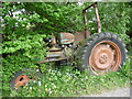 SN1841 : Abandoned tractor near Dan-yr-allt Farm by Jeremy Bolwell