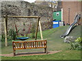 TQ3380 : Children's Play Area Tower Hill by Roger Jones