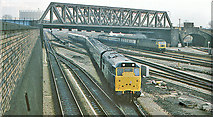 TQ2282 : Scene at Old Oak Common East Junction, with a Class 31 Diesel on empty stock from Paddington by Ben Brooksbank