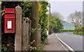 J4690 : Letter box near Whitehead by Albert Bridge