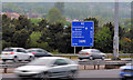 J3478 : Route confirmatory sign, M2, Belfast by Albert Bridge
