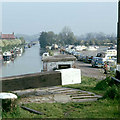 SP6164 : Grand Union Canal and Whilton Marina, 1976 by Robin Webster