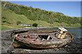 NM8127 : An old fishing boat at Kerrera by Walter Baxter