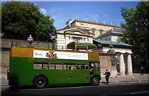 TQ2879 : Harrods Bus near Buckingham Palace by Des Blenkinsopp