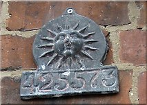 SE6986 : Fire mark, Crown Square, Kirkbymoorside by Pauline E