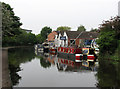 SK5538 : Boatyard on the Nottingham Canal by John Sutton