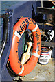 NM8328 : Life saving equipment on the Kerrera ferry by Walter Baxter