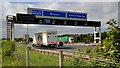 J3478 : Motorway gantry sign, Belfast (2) by Albert Bridge