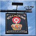 TQ6724 : Rose & Crown sign by Oast House Archive
