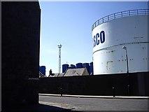 NJ9505 : Storage tank on Pocra Quay by Stanley Howe