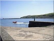 NJ9505 : Jetty slipway at New Pier, Aberdeen Harbour by Stanley Howe