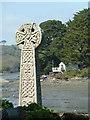 SW8435 : Old cross, St Just in Roseland by Chris Allen