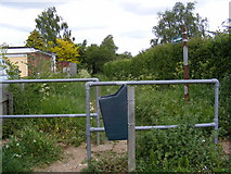 TM2955 : Footpath to the B1078 Border Cot Lane by Adrian Cable