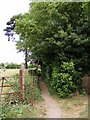 TM3055 : Footpath to Spring Lane by Adrian Cable