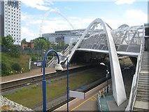 TQ1885 : Wembley Stadium station and White Horse Bridge by Nigel Cox