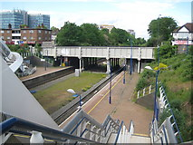 TQ1885 : Wembley Stadium station and the A479 Wembley Hill Road bridge by Nigel Cox