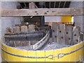 SJ9136 : Mosty Lea Mill - Flint Grinding Pan by John M