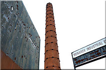 J3273 : Former Monarch Laundry chimney, Belfast by Albert Bridge