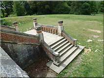 SU7209 : Steps at Sir George Staunton Country Park by Basher Eyre