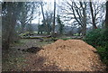 TQ5746 : Wood chippings, Haysden Country Park by N Chadwick