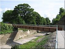 TQ7668 : Metal Footbridge in Fort Amhurst by David Anstiss