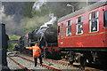 SH6945 : Locomotives at Blaenau Ffestiniog by Jeff Buck
