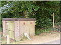 TM2446 : Footpath to Martlesham Heath & Gas Valve by Adrian Cable