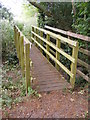TM3154 : Footbridge on the footpath to Quill Farm by Adrian Cable