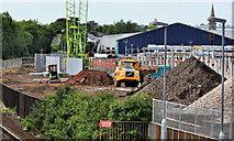 J3271 : New train maintenance depot, Belfast (1) by Albert Bridge