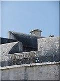 SY6874 : Portland Castle (3): battlements and chimney by Stefan Czapski