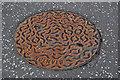 J3372 : Stanton circular manhole cover, Belfast by Albert Bridge