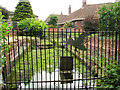 TG2309 : The Great Hospital, Norwich - The Swan Pit sluice by Evelyn Simak