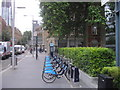 TQ3380 : Barclays Cycle Hire Docking Station, Tooley Street by PAUL FARMER