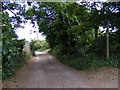 TM2546 : Three Stiles Lane Bridleway to Newbourne Road by Adrian Cable