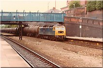 SE3634 : Oil Train at Cross Gates Station, 1984 by Rob Newman