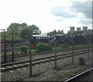 SU5290 : Didcot Railway Centre, from a passing train by Christopher Hilton