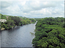 SD4964 : River Lune towards Halton from M6 southbound bridge by John Firth