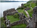 NH5328 : Urquhart Castle and Loch Ness by Robin Drayton