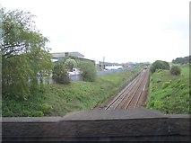 SD6210 : The railway towards Manchester from Station Road bridge Blackrod by Raymond Knapman
