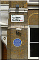 TQ3182 : Street sign, CCTV cameras and a blue plaque, Clerkenwell by Jim Osley