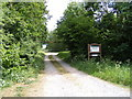 TG0422 : Entrance to Foxley Wood Nature Reserve by Adrian Cable