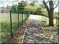 SO2801 : Footpath along perimeter fence of Penygarn Infants School by Jaggery