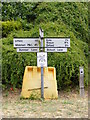 TM3050 : Roadsign on Summer Lane by Adrian Cable