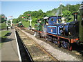 TQ3729 : Crossing trains at Horsted Keynes by Marathon