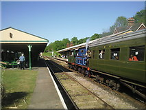 TQ3729 : Train pulling into Horsted Keynes station by Marathon
