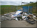 TQ0293 : Maple Cross: Fly-tipping in Chalfont Road by Nigel Cox