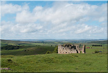 NY9084 : Ruin of engine house at Ridsdale by Trevor Littlewood